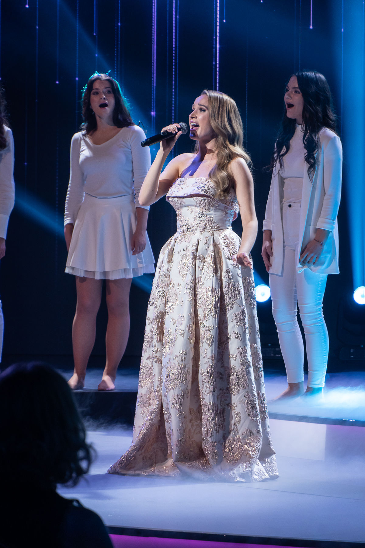 Speváčka Kristína počas koncertu Noc nádejí v...