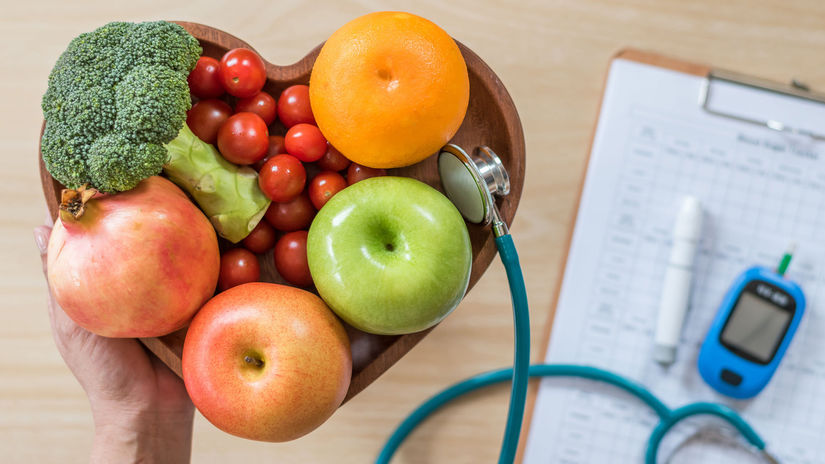 glukomer, srdce, ovocie, zelenina