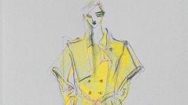Jedna zo skíc novej kolekcie slovenského dizajnéra Borisa Hanečku, ktorá je zároveň predajná.