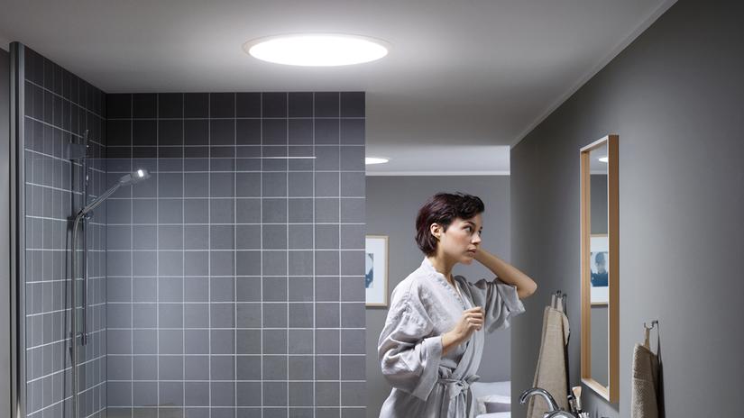 Velux, kúpeľňa, svetlovod, osvetlenie