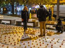 Hlinov jablkový protest za odvolanie Kollára