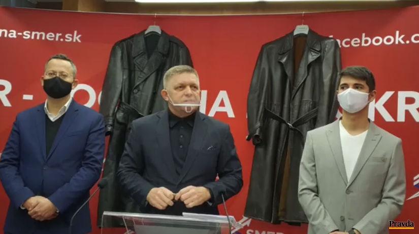 """Robert Fico, Smer, """"gestapácke"""" kabáty"""