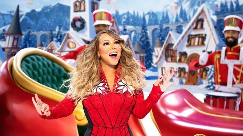 Speváčka Mariah Carey na zábere z programu...