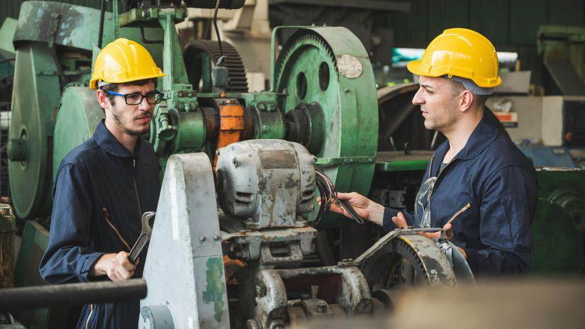 práca, robotníci, stroj