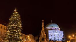 Pécs, vianočný strom