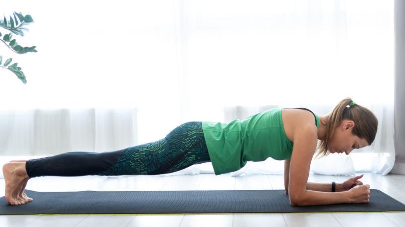 plank, planking, tréning, žena, cvičenie