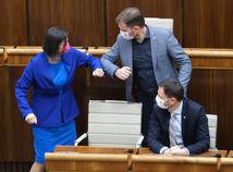 Mária Kolíková, Igor Matovič, Eduard Heger, parlament