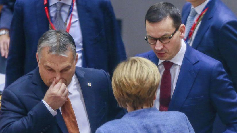 Orbán / Merkelová / Morawiecki /