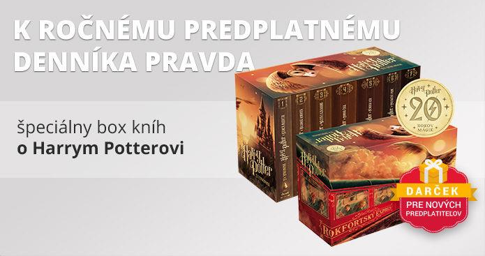 Ročné predplatné s boxom kníh o Harrym Potterovi