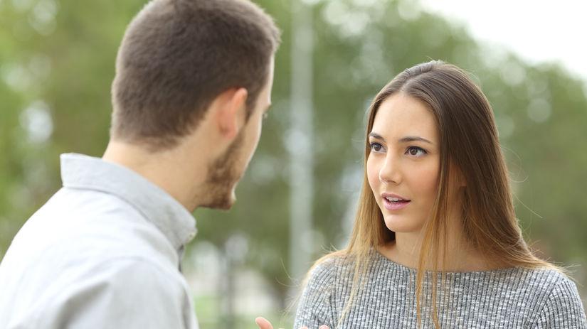 žena, muž, vzťah, rande, hádka, komunikácia, pár