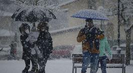 Európa, sneh, počasie