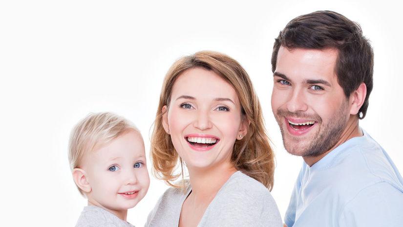rodina, úsmev