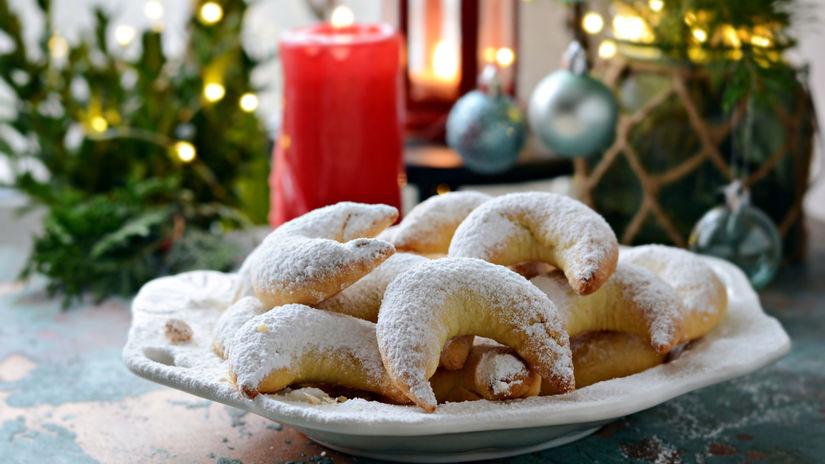 vanilkové rožky, vanilkové rožteky, sviatky,...