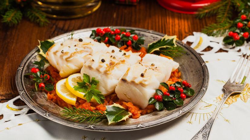vianočné jedlo, Vianoce, večera, ryba