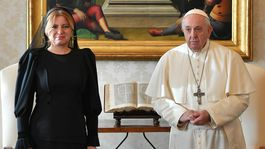 Vatikán SR Prezidentka Pápež Audiencia