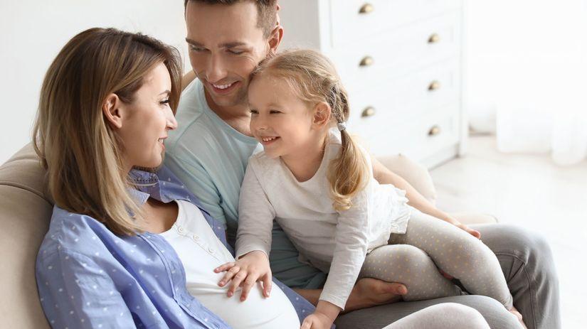 rodina, tehotenstvo, tehotná, radosť