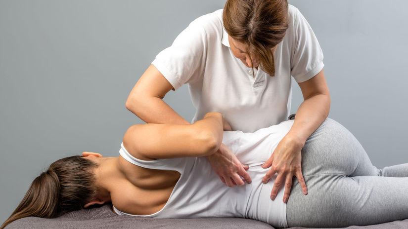 chrbát, chrbtica, cvičenie, masáž