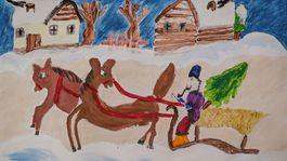 moje najkrajsie vianoce 2020 kresba emka raczova