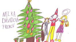 moje najkrajsie vianoce kresba-DAVIDOVA