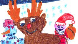 moje najkrajsie vianoce kresba-JURICKOVA