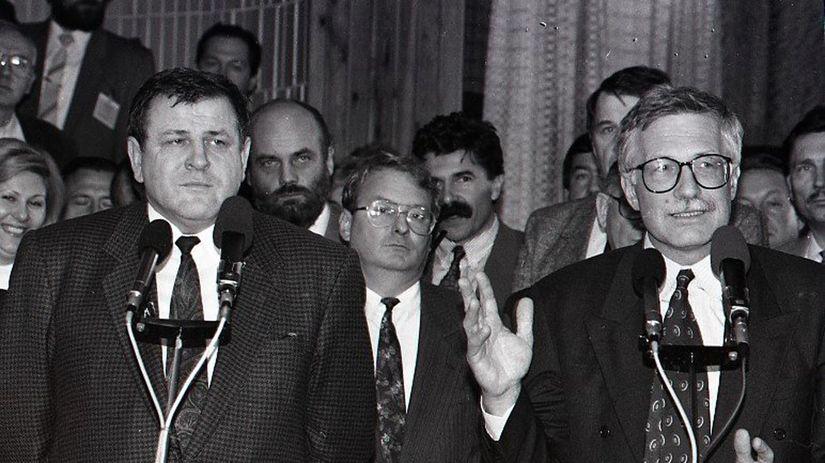 Vladimír Mečiar, Václav Klaus, ČSFR, 1992