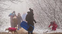 Koliba, sneh, športovanie, mestská polícia,