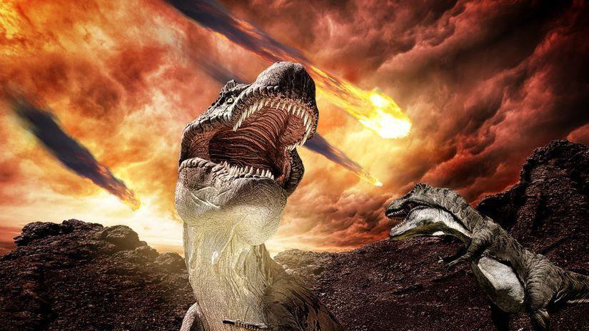 dinosaurus, asteroid