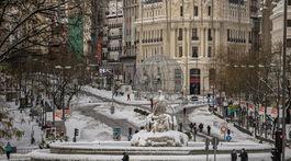 Zasnežený španielsky Madrid