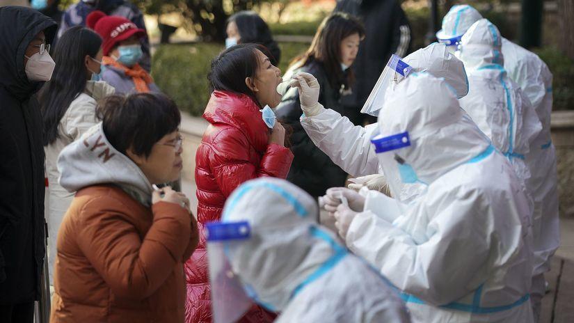 čína, testovanie, koronavírus