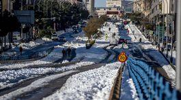 Španielsko, sneh, kalamita, Madrid