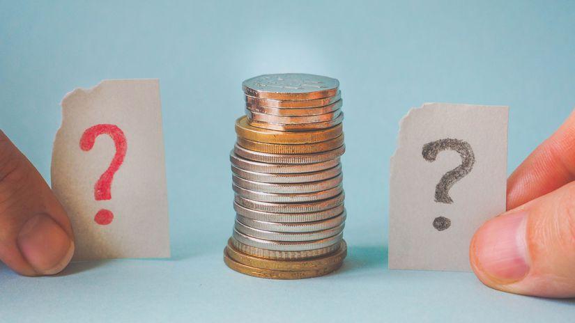 euro, mince, peniaze, otáznik, otázky