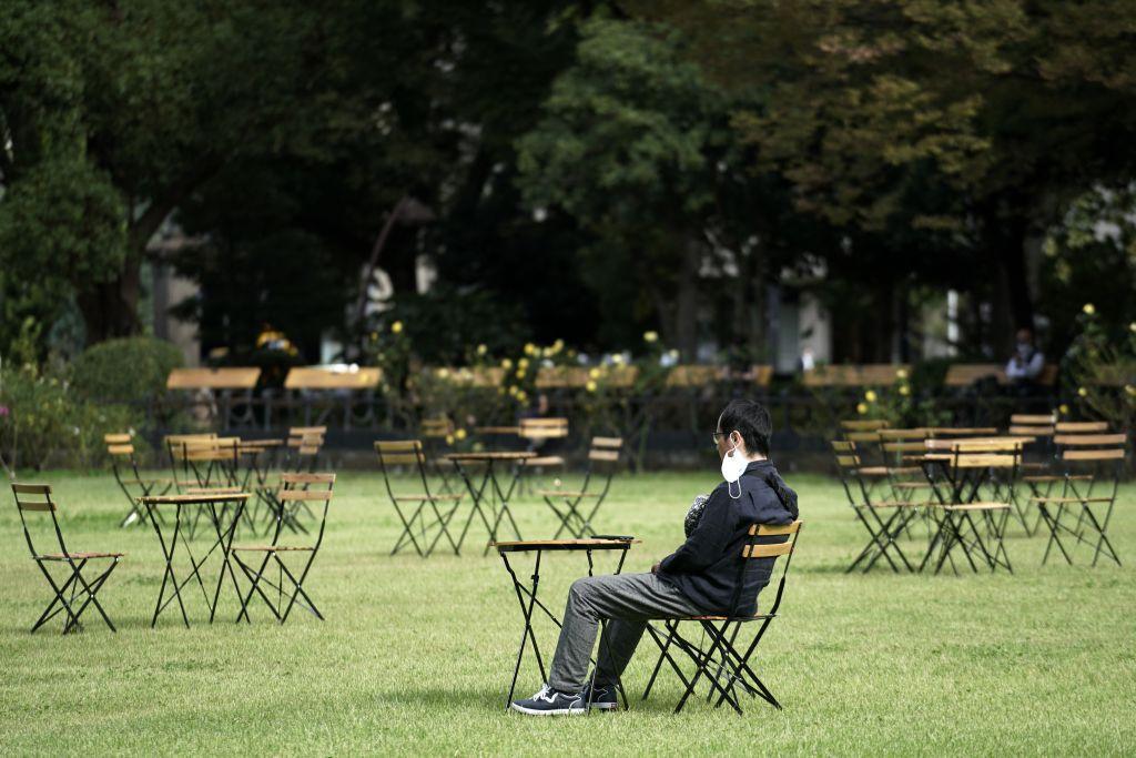 Japonsko, rúško, vírus, stolička, Tokio,