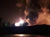 výbuch, homs