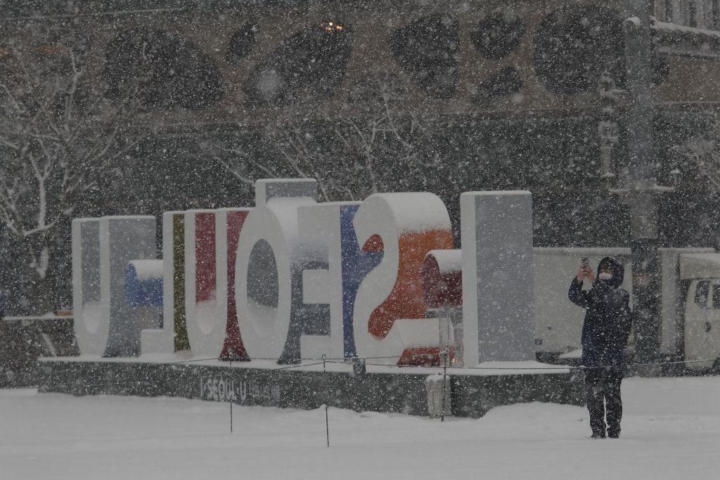 Soul, Južné Kórea, sneh, zima,