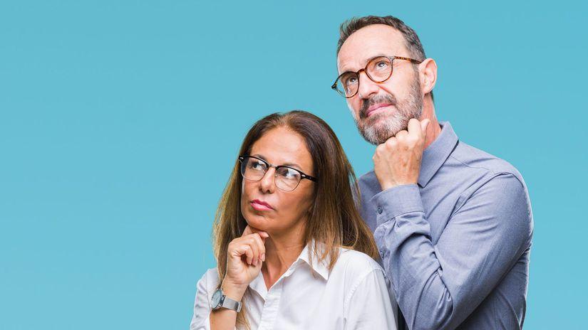 penzisti, manželia, rozmýšľanie