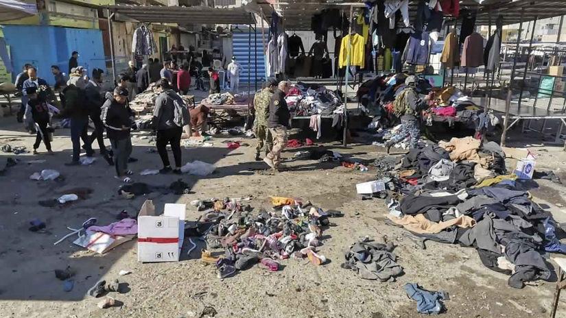 Irak útok bombový bagdad