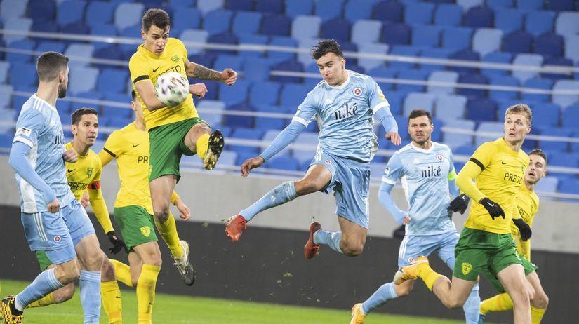SR futbal FL 18. kolo Slovan Žilina BAX