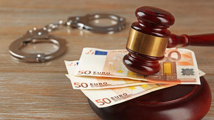 súd, spravodlivosť, kladivko, peniaze, putá,...
