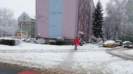 kalamita, sneh, Kosice, cesta, dopravna situacia, priechod pre chodcov