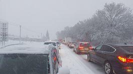 kalamita, sneh, Kosice, cesta, dopravna situacia