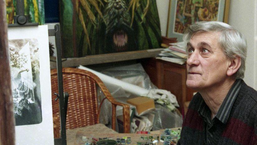 Albín Brunovský, ateliér, maliar. obrazy