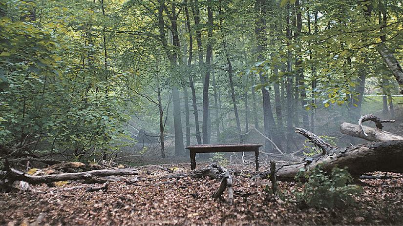 les, lavička