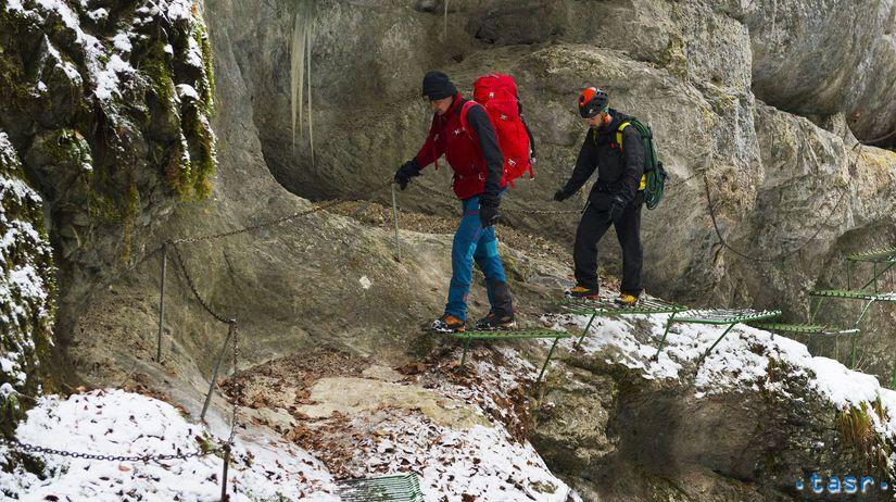 Slovenský raj Prielom Hornádu turizmus ľadopády