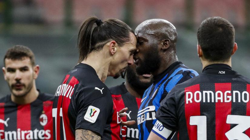 Taliansko šport futbal pohár 1/4 Miláno
