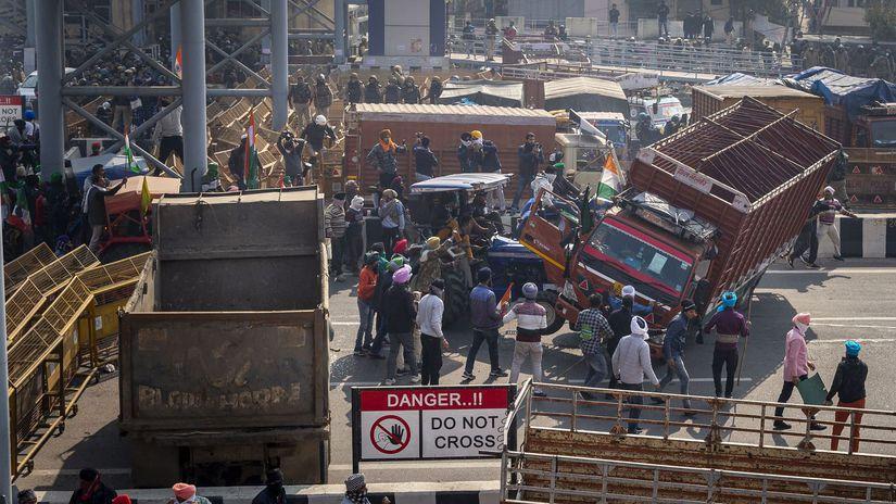 Протесты против реформы фермеров в Индии