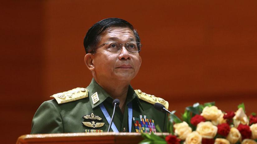 Mjanmarsko, generál Min Aun Hlain