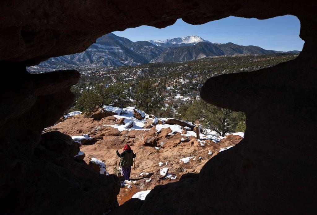 Colorado, turista, príroda, jaskyňa, zima,