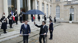 Emmanuel Macron a Igor Matovič