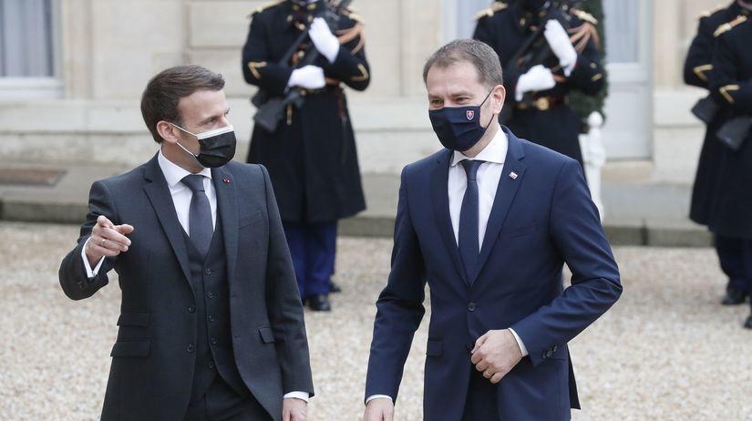 Emmanuel Macron / Igor Matovič /