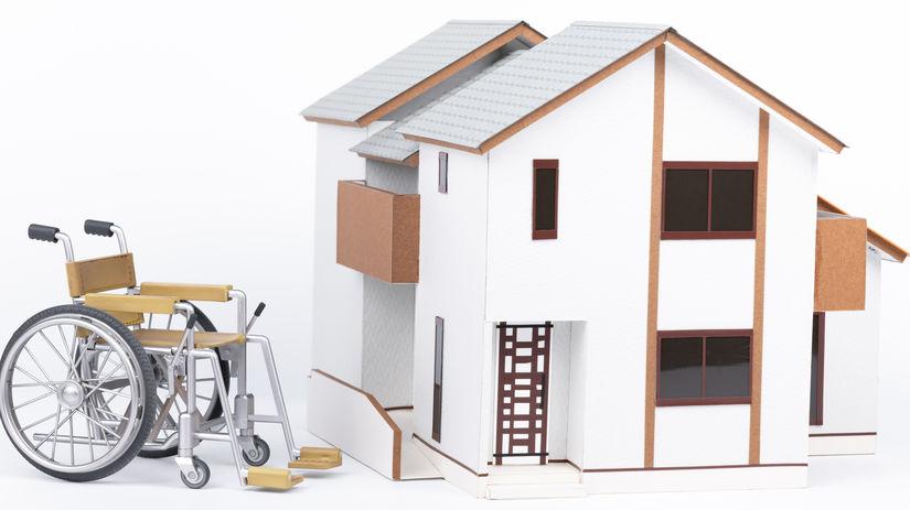 dom, invalidný vozík, ZŤP, ŤZP